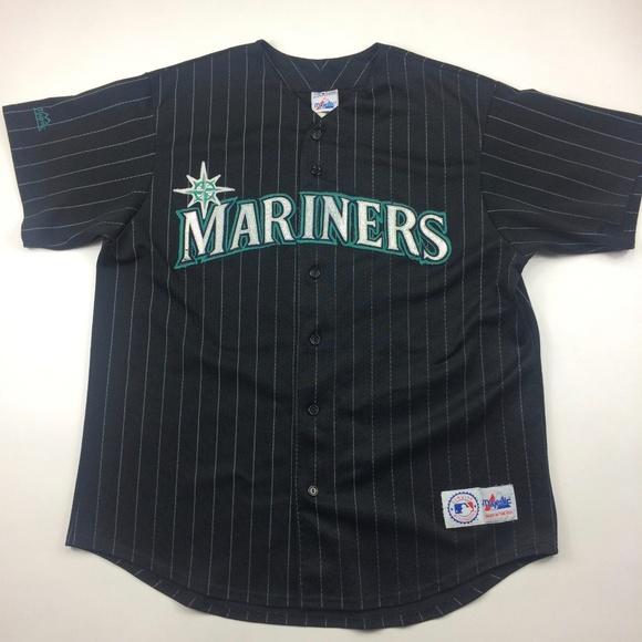 bd32ee02 Majestic Shirts | Vintage 90s Seattle Mariners Baseball Jersey Rare ...